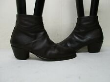 Buccelli Italy Brown Leather Zip Ankle Boots Womens Size 39 EUR