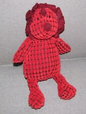 """Jellycat First Steps Dappy Dino Dinosaur Red Plush 12"""" Triceratops Baby Lovey"""