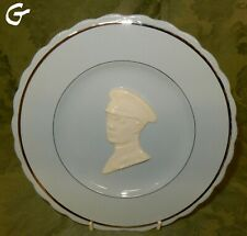 Vintage Parrott & Company Shadow Blue Commemorative Plate 1935 George V  (G)