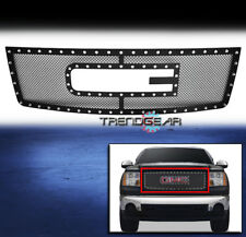 2007-2013 GMC SIERRA 1500 NEW BODY MAIN UPPER RIVET MESH GRILLE INSERT LOGO SHOW