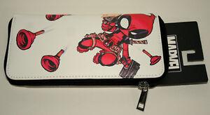 Rare Marvel Comics Deadpool Women's Wallet Purse Clutch Kawaii Bioworld New Tags