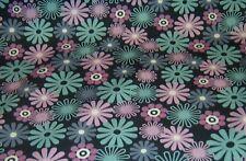50x150 cm   Jersey  Blumen  retro  Avalana  Blüten