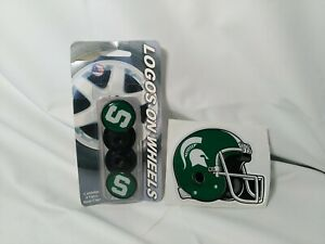 NCAA Michigan State Spartans Youth Green-White Hail Mary Rubber Football
