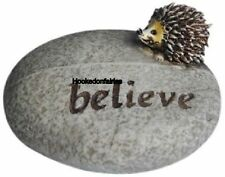 "Hedgehog Stone  ""Believe"" TO 4471 Dollhouse Miniature Fairy  Hobbit Garden"