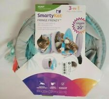 """New listing Smarty Kat Fringe Frenzy 3-In-1 Play Hide Zoom 9"""" X 20"""" Cat Toy"""