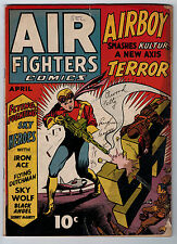 Air Fighter Vol 1 #7 2.0 Classic Nazi Swastika Cover Cream/Ow Pages Golden Age