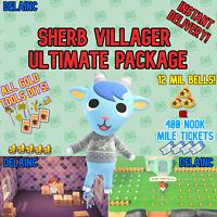 Animal Crossing New Horizons SHERB Villager + 12 MIL or 400 TICKETS + BONUS!