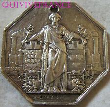 MED6215 - MEDAILLE JETON CHEMIN DE FER PARIS ORLEANS 1838 en argent