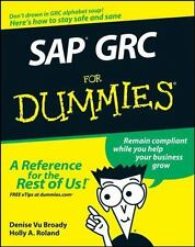 SAP GRC for Dummies by Holly A. Roland, Denise Vu Broady and Dan Woods (2008,...