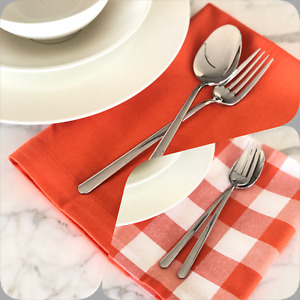 Napkins Poly cotton gingham and plain colors 20x20 inches 20x20 inch (51x51 cm)