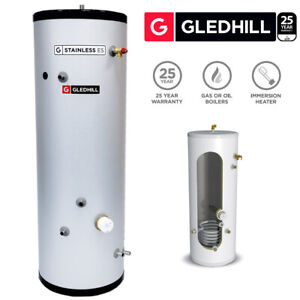 Gledhill ES 300L Indirect Unvented Cylinder Stainless Steel SESINPIN300
