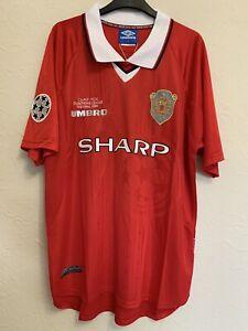 Manchester united champions league Retro Shirt 1999/ Solskjaer 20