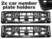 2 x Doming CAR Number Plate Surround Holder Frames BEST FIT for LEXUS