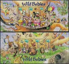 2001 AUSTRALIA Wild Babies M/S (2) MNH