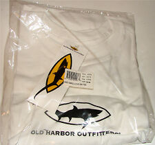Old Harbour Outfitters T Shirt,Fishing Shirt Short Sleeve White XX Large XXL 2XL