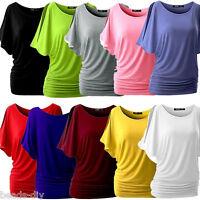 Damen Kurzarm Bluse Hemd Freizeithemd T-Shirt Sommer Oberteil Shirts Gr.S-5XL