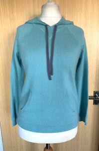 Boden Ladies Jumper Hoodie 12 100% Cashmere Pocket Hood Casual Loungewear Winter