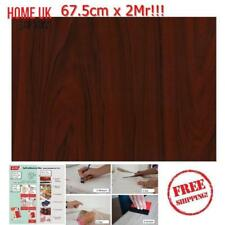 NEW DIY Kitchen Worktop Mahogany Wood Vinyl Cover Self Adhesive Sticky Back Wrap