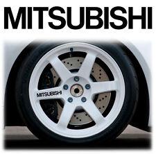 MITSUBISHI ALLOY WHEEL WHEELS STICKERS DECALS GRAPHICS X6