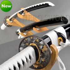 HANDMADE JAPANESE SAMURAI KATANA GENERAL TSUBA SWORD 1060 STEEL FULL TANG SHARP