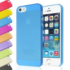 CLEAR 0.5MM TRANSPARENT SLIM ULTRA THIN SOFT GEL BACK COVER CASE FOR IPHONE 5 5S
