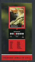Liberia 2014 MNH Endangered Animals of Africa 1v S/S II Alaotran Gentle Lemur