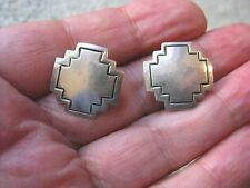 VINTAGE  STERLING SILVER CLIP ON EARRINGS   BY  D. STERLING  ALV     D24