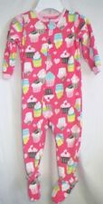 GIRLS 2T PINK YUMMY MULTI CUPCAKE ZIP UP FOOT FLEECE SLEEPER NWT CARTER'S