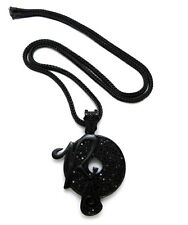 """NEW ICE BLING JAY-Z, KANYE """" ROCAFELLA RECORDS """" PENDANT & 36"""" 4mm FRANCO CHAIN"""