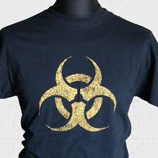 Bio Hazard Warning Super Hero Vintage T Shirt Cool  Big Bang Theory