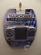 ELECTRONIC SUDOKU CHAMPION BY MAXIMO DIGITAL TALKING HAND HELD GAME NIP