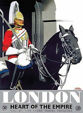 London Royal Changing of The Guards Metal London Gifts London Empire Tin Sign