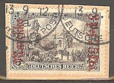 1911 German offices Morocco 3.75 Pts. issue used, Michel # 57 I A, € 260.00