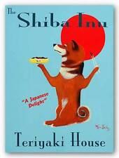 DOG ART PRINT Shiba Inu Teriyaki House Ken Bailey 14x11
