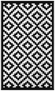 Green Decore Outdoor Rug Nirvana Black / White
