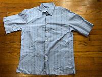 Brioni For Neiman Marcus T Shirt Short Sleeve Blue Men Size Large