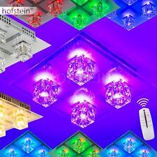 Plafonnier à LED Changeur de couleur Lampe à suspension Design Carré Verre 63512