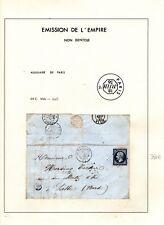 NAPOLEON 14Ab Bleu-noir sur Lettre = Cote 350 € / Lot Classique France