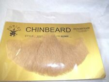 "Chin Beard Human Hair Blonde 6"" Lace Net Backing Professional Theatrical 2023"