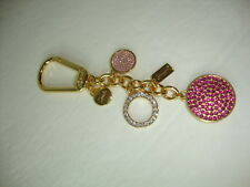 New Coach Jewelry Disc Pave Crystal Charms F63136 Key fob