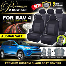 Premium Black Seat Covers 2ROW for TOYOTA RAV 4 40 SERIES 2013-18 GXL GX Cruiser