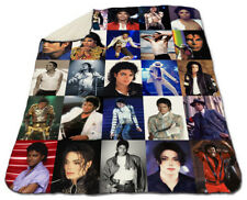 "Michael Jackson Blanket Collage Winter 60"" x 80"" Queen Size Fleece Christmas"