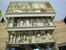 Vintage Plano Fishing Tackle Box with Old Lures