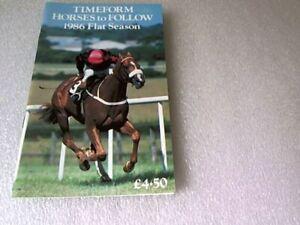 TIMEFORM HORSES to FOLLOW 1986 Flat Season Racehorse Booklet ~ VGC.