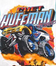 New Mens XLARGE White Chet Huffman Motor Sports T Tee Shirt Heavyweight Cotton