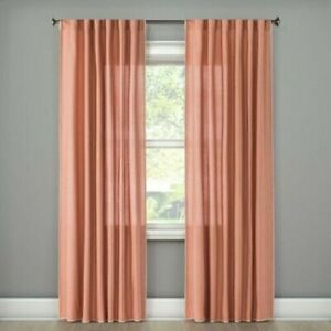 LIGHT FILTERING CURTAIN- STICHED EDGE-HONEY PEACH 84 X 54-