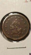 1863 Liberty Obverse Wilson's Medal 1 Reverse Civil War Token #AA404