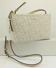 NEW Calvin Klein Desert Taupe Faux Leather Small Crossbody Signature Handbag