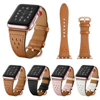 Leather Band Strap Bracelet Watchband For Apple Watch iWatch 38mm 42mm