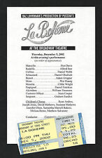 """Baz Luhrmann's """"LA BOHEME"""" Alfred Boe / Joseph Jonas 2002 Preview with Ticket"""